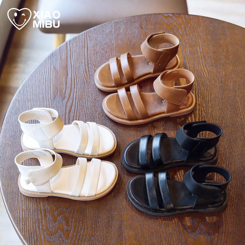 High girls sandals for Roman shoes 2021 children summer new fashion soft bottom anti-slip beach shoes