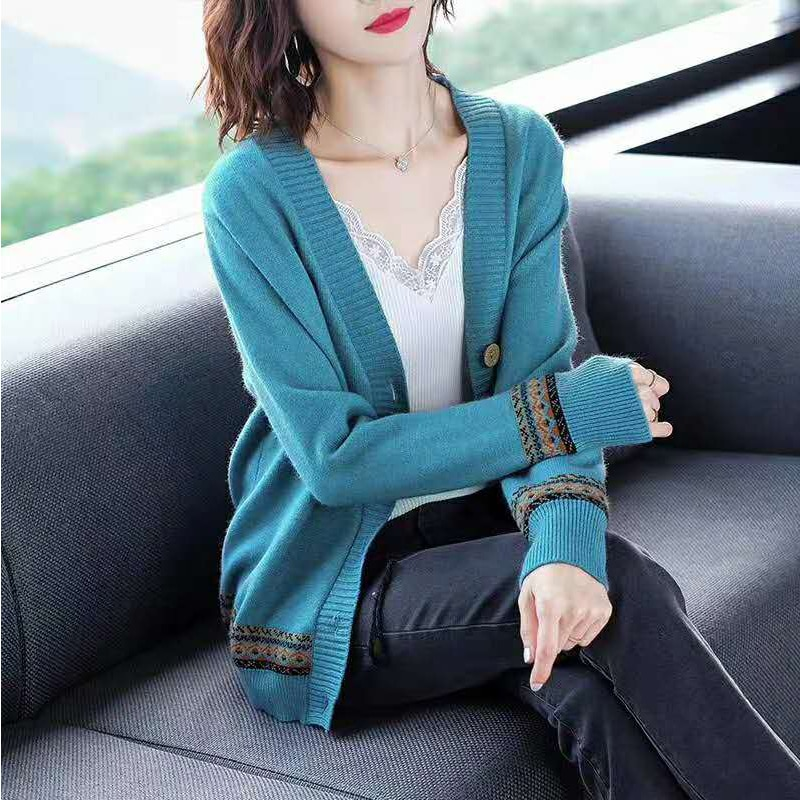 Knitting Sweater Cardigan Casual Sweaters Womens Long Sleeve All-match Elastic Sweater woman sweaters enlarge