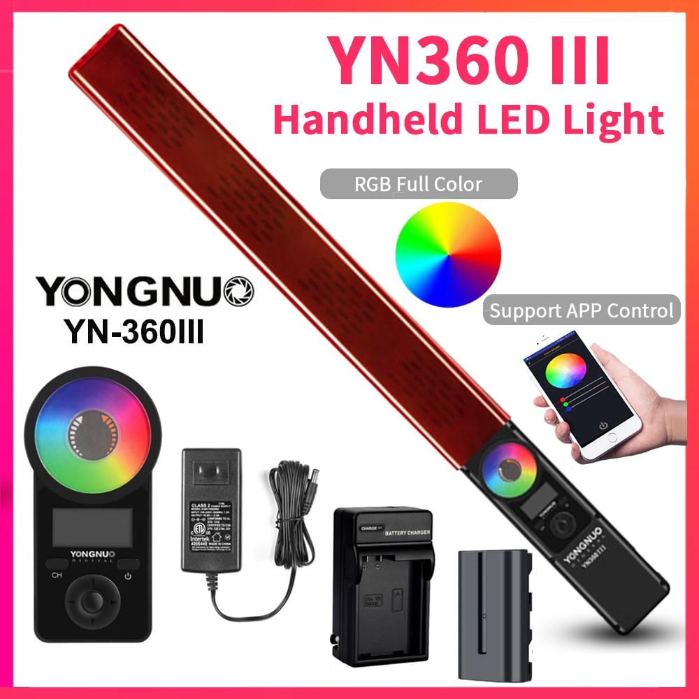 YONGNUO YN360 III YN360III ручной светодиодный светильник с сенсорным регулированием Bi-colo 3200k до 5500k RGB заполняющий светильник ing с пультом дистанционно...