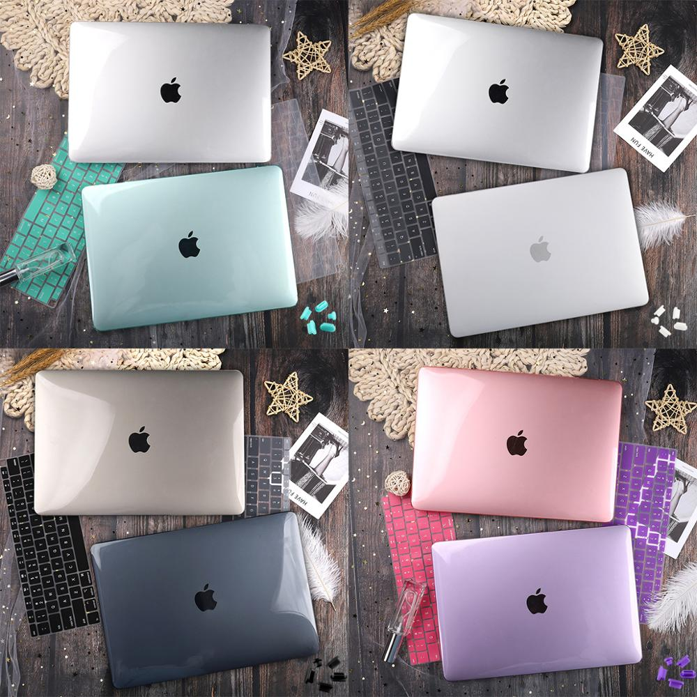 Matte Crystal Transparent Clear Case For Mac book Air Pro Retina 11 12 13 15 16 Touch Bar 2019 A2141 A2159 New Air 13 A1932 2020