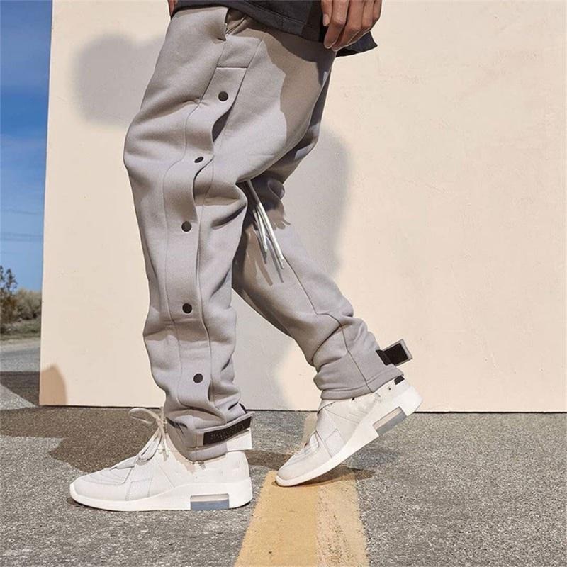 Брюки-карго мужские уличная одежда, джоггеры на липучке, тренировочные штаны для фитнеса, повседневные джоггеры, спортивные штаны на пугови...