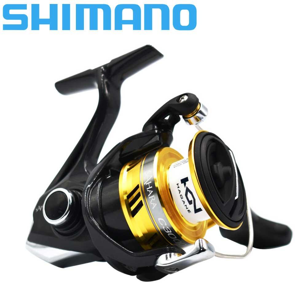 Рыболовная катушка SHIMANO SAHARA FI, катушка для спиннинга 4 + 1BB 1000 2500 C300, большая емкость, макс. 11 кг, Рыболовные катушки для морской рыбалки