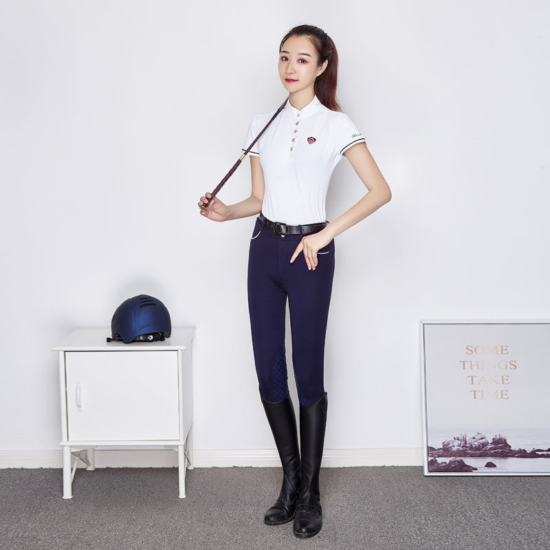 Professional Equestrian Breeches Riding Pants Non-slip Wearable Thin Section Silica Gel Adult Child Riding Equipment Men Women