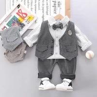 2021 baby boys clothes kids birthday party clothing vestshirtpantstie children wedding garment toddler newborn 1 2 3 4 years