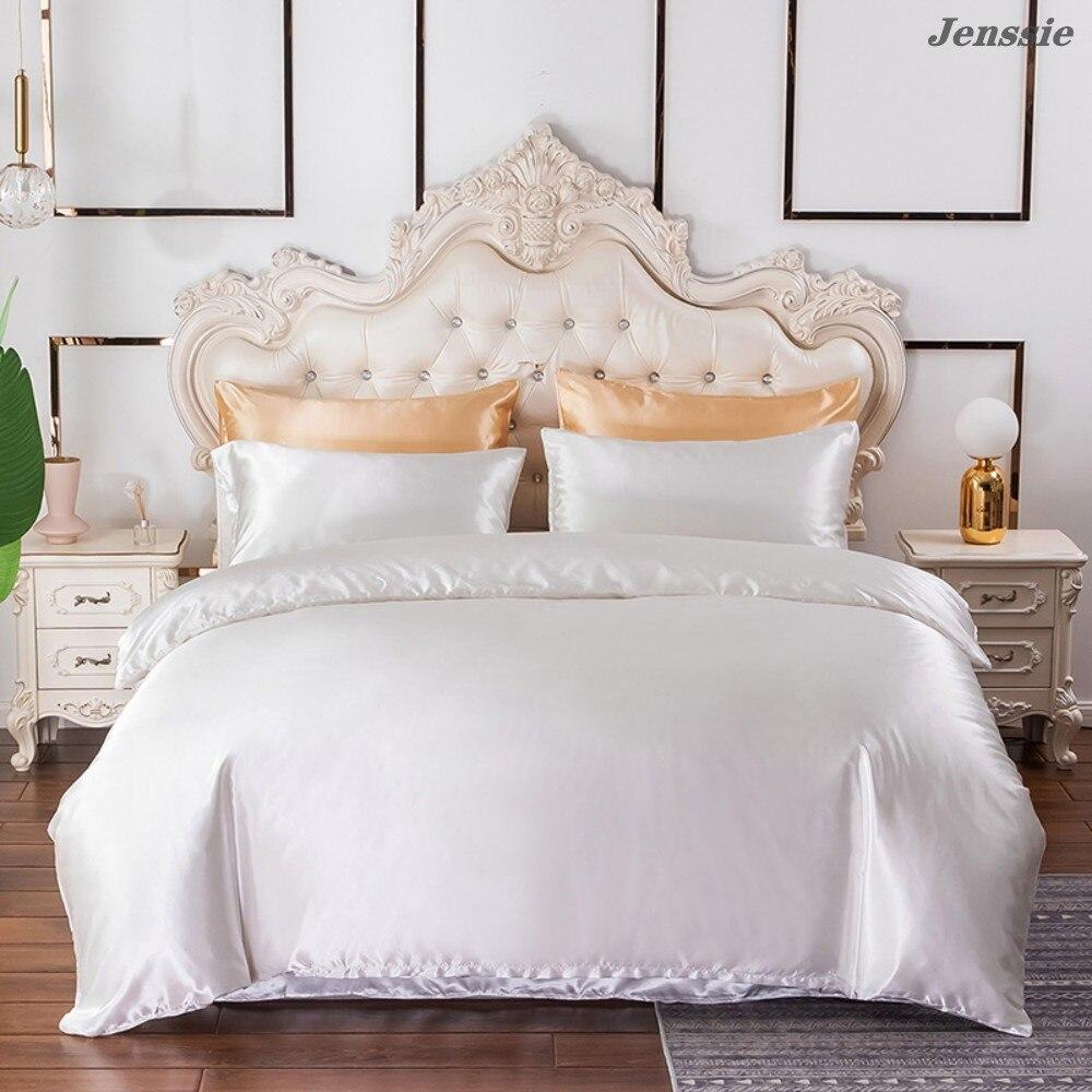 2021 جديد نمط حاف الغطاء الحرير المعزي الفراش الملكة الملك التوأم كامل الحجم المفارش بلون لحاف طقم أغطية الكبار