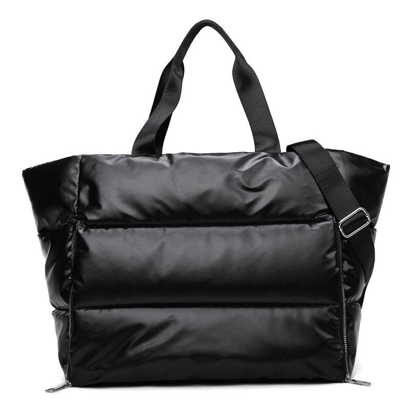 Large Capacity Women's Shoulder Bags 2020 Winter Ladies Handbags Tote Bags Waterproof Down Bag Space Pad Sport Travel Pillow Bag