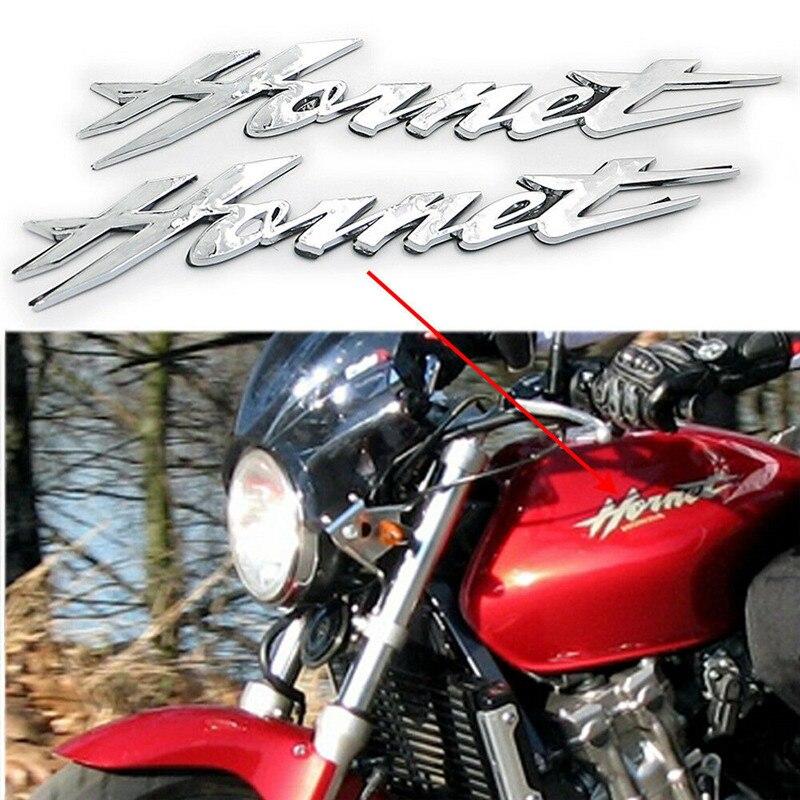2PCS Chrome 3D Gas Fuel Tank Emblem Badge Decal Logo symbol mark for Honda Hornet 250 400 600 CB600F 599 900 CB900F 919
