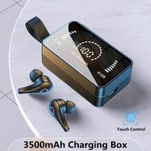 TWS Wireless Bluetooth Headphones HD Mirror Screen LED Display Earphones with 3500mAh Charging Box 9