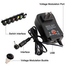 Универсальный адаптер питания 220 В, 12 В, 3 в, 4,5 В, 5 В, 6 в, 7,5 В, 9 В, 2 А, 2,5 А, Регулируемый адаптер, зарядное устройство для светодиодного светильника, 30 Вт