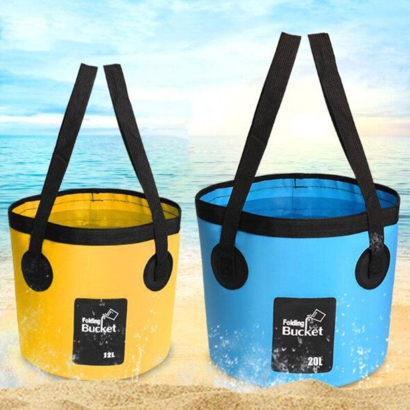 12L 20L Bowl bolsa de lavamanos cubeta para lavar autos portátil de viaje al aire libre cubo de agua plegable multifuncional cubo plegable