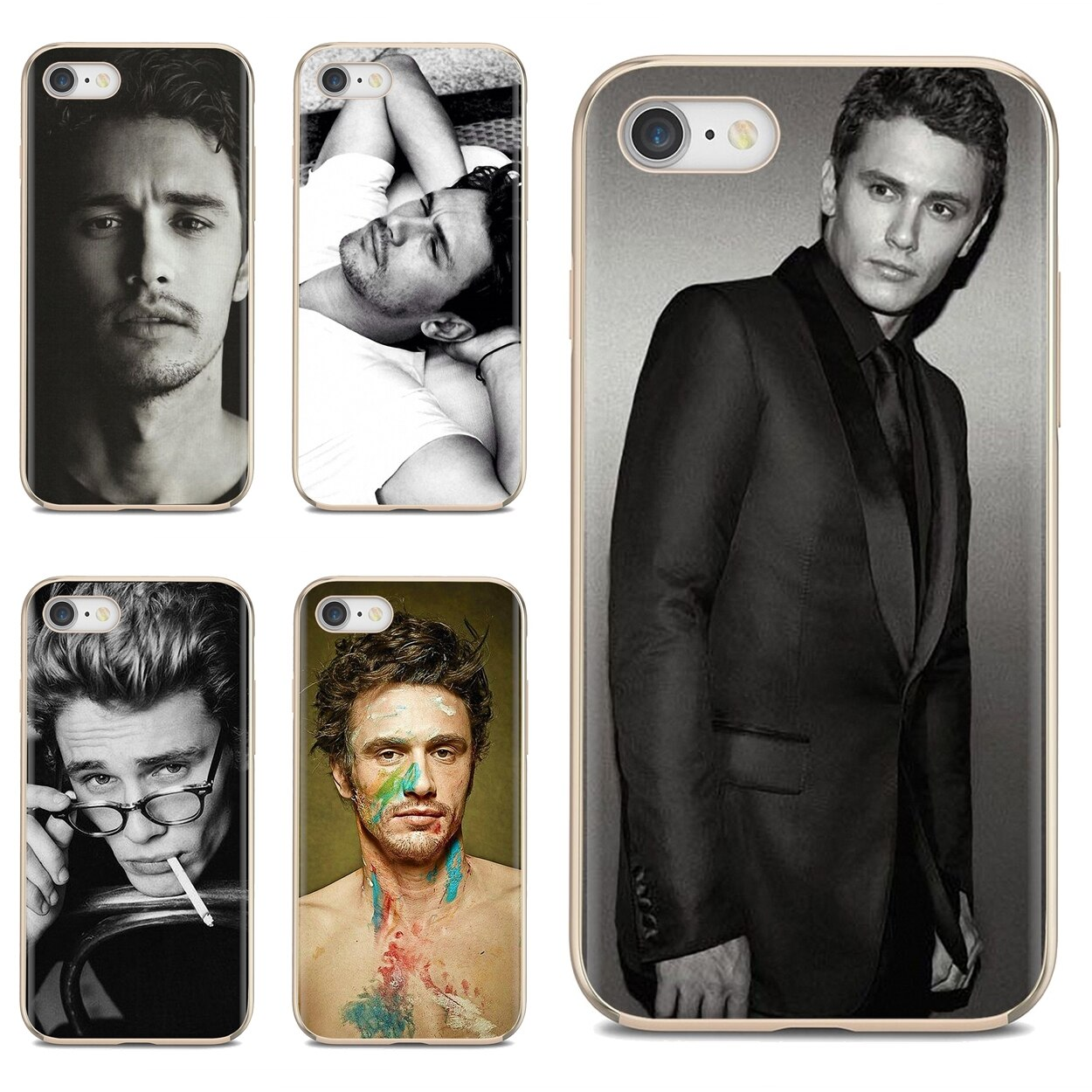 Suave cubierta TPU para iPod Touch para iPhone 11 Pro 4 4S 5 5S SE 5C 6 6S 7 7 8 X XR XS Plus Max James Franco malo pose americano