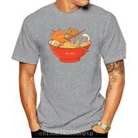 new ramen and cats t shirt men cute cartoon animals camiseta black white clothes gift 100 crew neck dad t shirt eu size