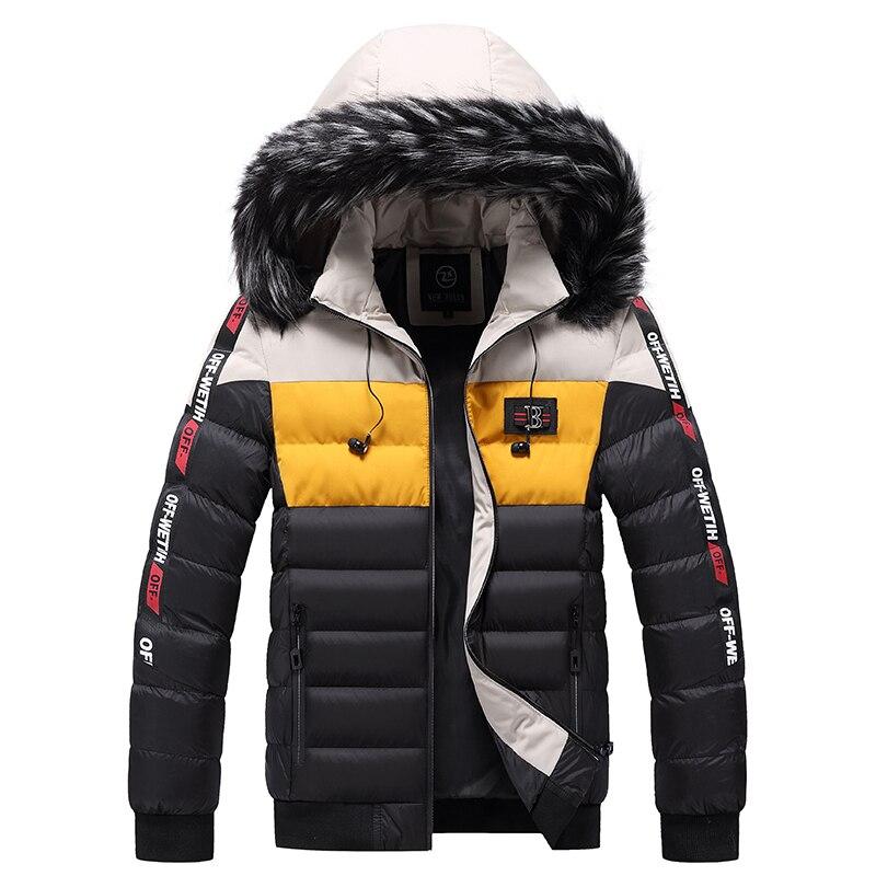 Новинка 2021, Брендовые мужские зимние теплые повседневные куртки, мужские парки, осенняя ветрозащитная уличная одежда с толстым мехом, парка...