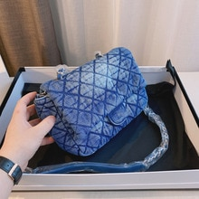 High Luxury Designer Summer New Style Imported Denim Trendy Women's Messenger Bag