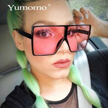 Yumomo New Square Sunglasses Women Oversized And Luxurious Fashion Flat Top Luxury Brand Personlity