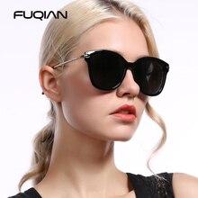 FUQIAN flambant neuf oeil de chat polarisé dame lunettes de soleil conception Unique diamant Temple lunettes de soleil belle conduite lunettes UV400