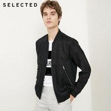 SELECTED breathable Stitching Baseball Collar Jacket Men Coat  418321501