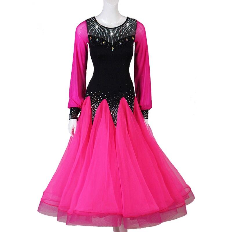 Vestido de baile moderno de manga Gong Yan, falda de péndulo, Vals, grupo de danza, Show Match Serve