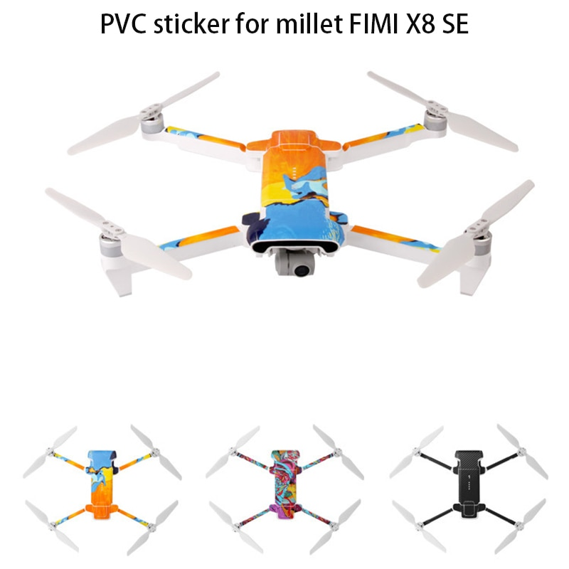 Waterproof PVC Drone Sticker Decal Skin Cover Scratch Protection Film For XIAOMI FIMI X8 SE Easy To Paste Removable PVC Sticker