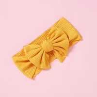 solid color bowknot baby headband elastic turban hairband baby girl headbands hair bands for baby girls hair accessories