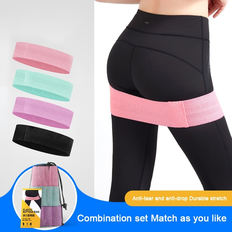 3pcs Fabric Resistance Bands Booty Yoga Fitness Gym Workout Elastic Bands Thigh Butt Leg Squat Hip Exercise Accessory
