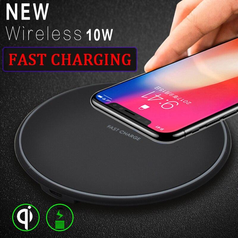 Cargador inalámbrico rápido Qi para iPhone 11 Pro X XS carga inalámbrica máxima para Samsung Galaxy S10 S9 S8 Plus cargador de escritorio Dock