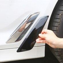 Fibre de carbone couleur côté voiture évent couverture garniture garde-boue autocollants bandes pour BMW série 5 G30 G38 2018 accessoires extérieurs décalcomanies