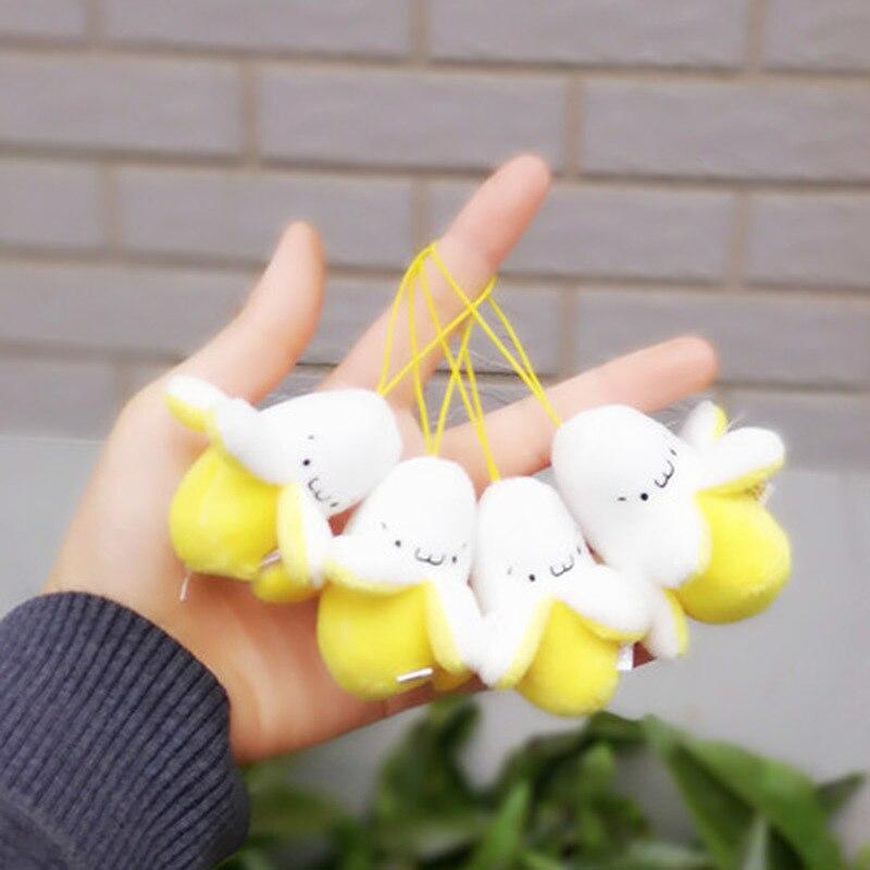 1PC Kawaii Plush Mini 6CM Plush Stuffed Banana Toy Doll - Bouquet Plush Toy , Lover's Gift String Plush Pendant Doll Toy