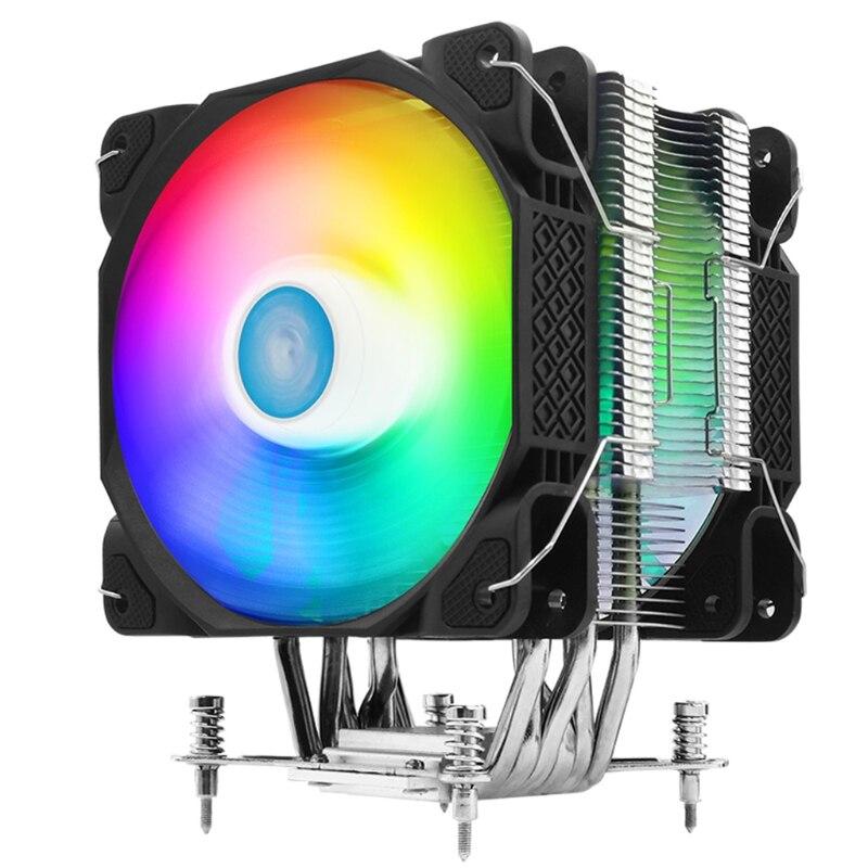 J60A مبرد وحدة المعالجة المركزية الانظار ل intel/amd/LGA ملون RGB الشاسيه المبرد 6 أنابيب الحرارة وحدة المعالجة المركزية مبرد الهواء 120 مللي متر الصامت...