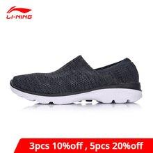 Li-ning hommes facile marcheur style de vie chaussures Textile respirant baskets léger coussin doublure Li Ning chaussures de Sport AGCM101 YXB061