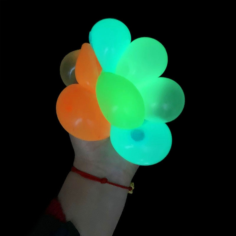 1/2/4pcs Luminous Stick Wall Ball Decompression Fidget Toys Globbles Fluorescent Sticky Target for Kid Teen Adult Toy