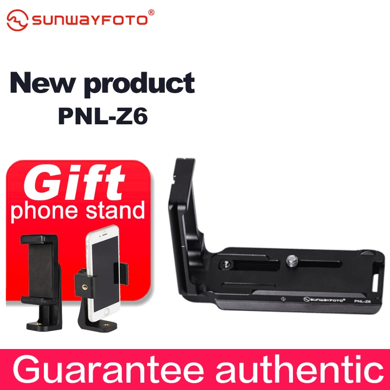 Sunwayfoto PNL-Z6 cabeça do tripé placa de liberação rápida para nikon z6 z7 tripé cabeça l-bracket placa de liberação rápida