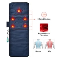 infrared physiotherapy heat compress cervical spine back leg electric heating whole body kneading vibration massage cushion