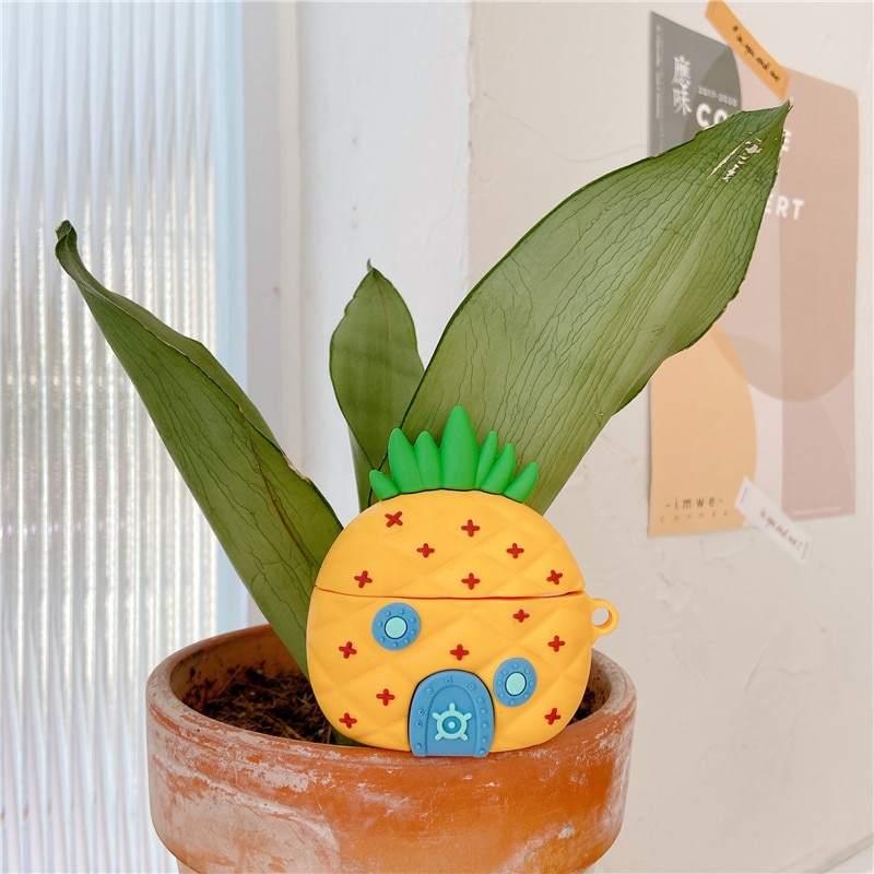 Cute Pineapple House Earphone Cases For AirPods 1 2 3 Funny Design Silicone Headphones Cover For Apple Air Pods Pro Funda Capa enlarge