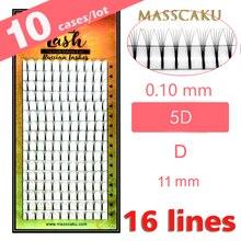 MASSCAKU 10 cases/lot High quality 3d/4d/5d/6d Long Stem Eyelashes Pre Made Volume fans Premade Russ