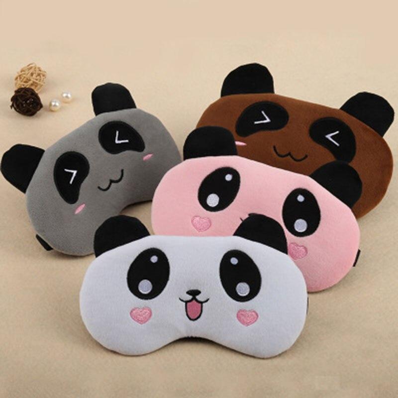 ATOMUS oso lindo dormir máscara ojo Panda viaje Rosa niñas parche de ojo suave portátil de dibujos animados venda de ojos No bolsa de hielo