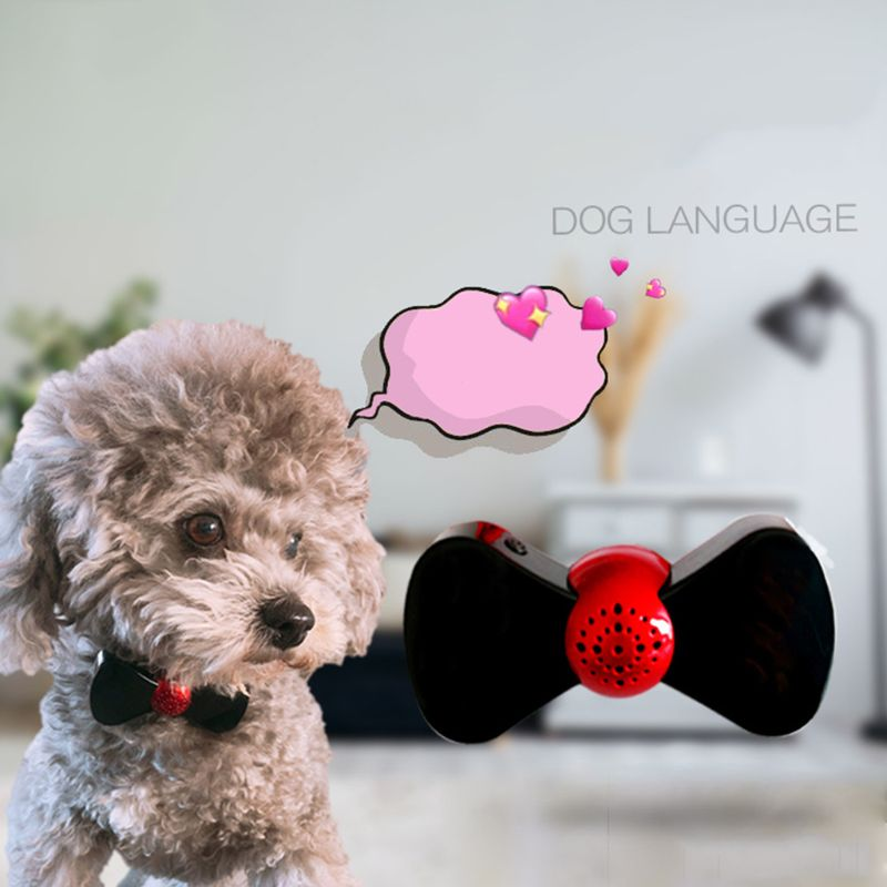 Lector de sonido de voz de acción de cachorro de traductor de idioma de Perro inteligente escáner de cuello para la interacción de las personas con mascotas