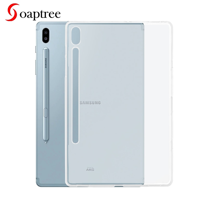 Прозрачный силиконовый чехол для Samsung Galaxy Tab S6, чехол для планшета Samsung Table S6 SM-T860 SM-T865, мягкий термополиуретановый противоударный чехол