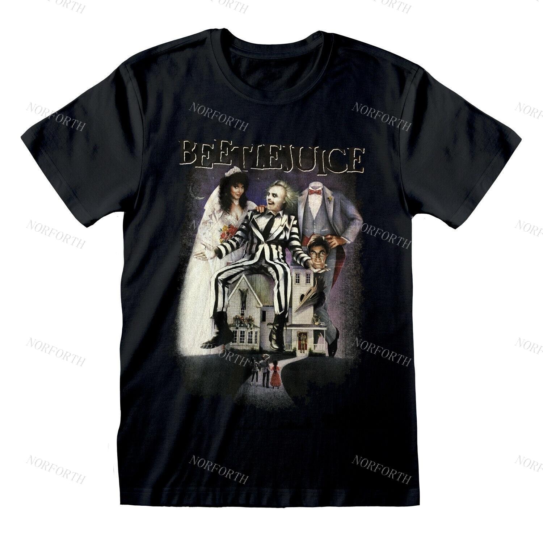 Beetlejuice-camiseta oficial de la película, póster de Tim Bree, Betelgeuse, color negro
