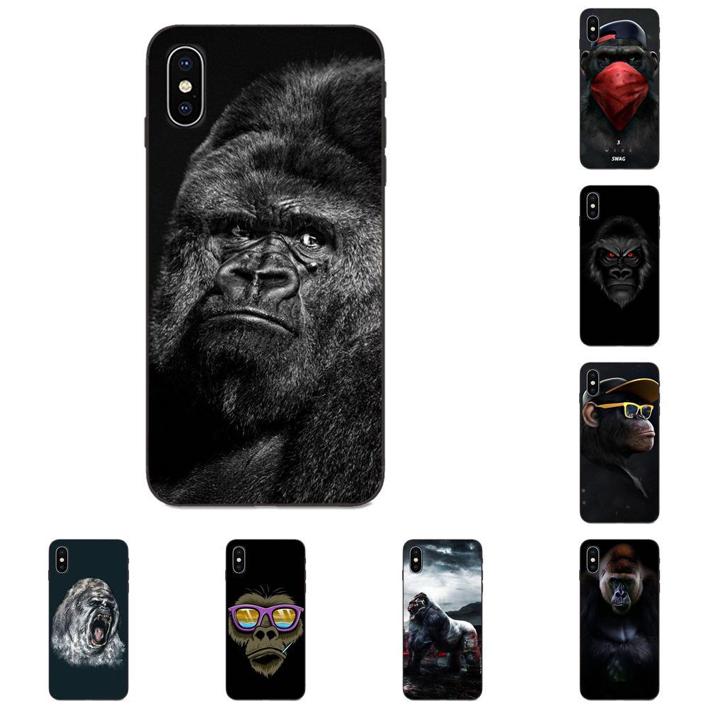 Angry Gorilla для Apple IPhone X XS Max XR 4 4s 5 5S SE 6 6S 7 8 Plus Мягкий дизайн на заказ