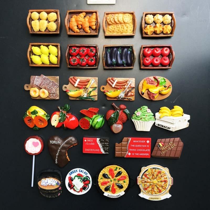 Памятные подарки для путешествий со всего мира, ручная роспись, магнитные наклейки на холодильник для украшения дома консервируем дома рецепты со всего мира