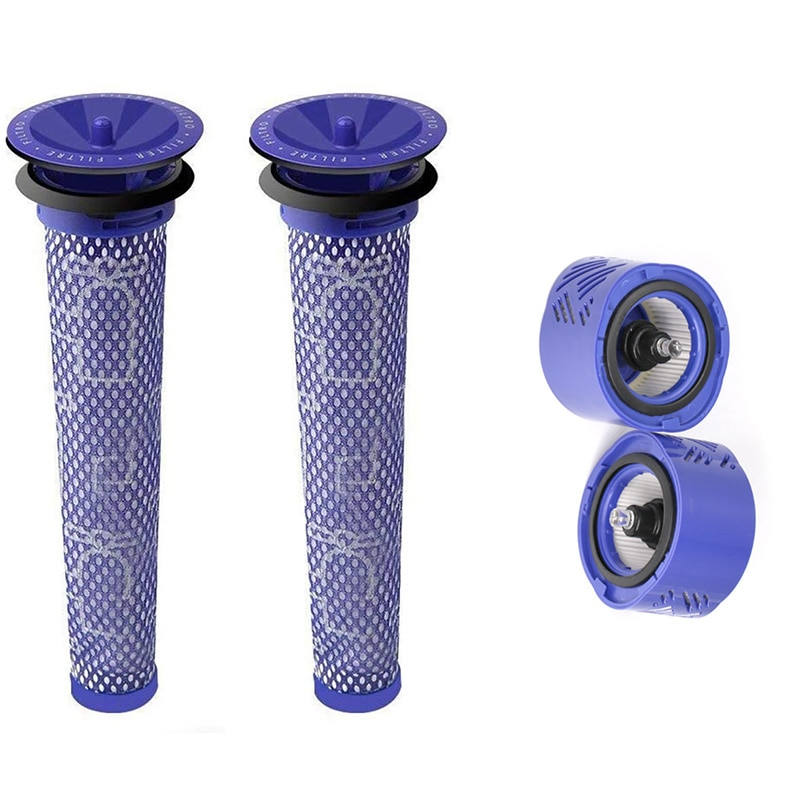 Top Deals 4Pcs for Dyson Vacuum Cleaner Accessories Filter V6 Rear Filter s Home HEPA Filter Accessories