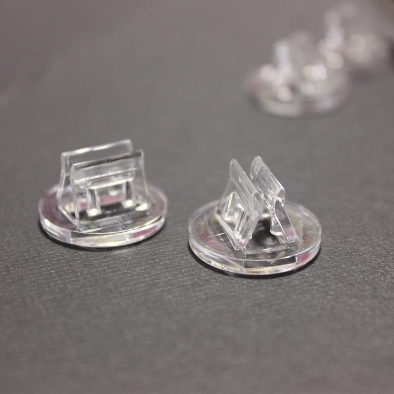 20 pièces cartes en plastique support Unique accessoires fixes transparents pour 2mm cartes de jeux de société en papier