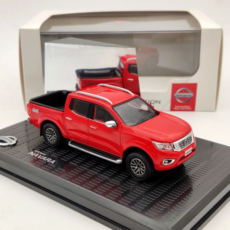 ixo 1 43 for v ksw gen polo classic 1996 diecast models collection limited edition auto toys car gift red 1/43 For N~san Navara 4x4 Pickup Truck Red Diecast Models Limited Collection Auto Toys Car Gift