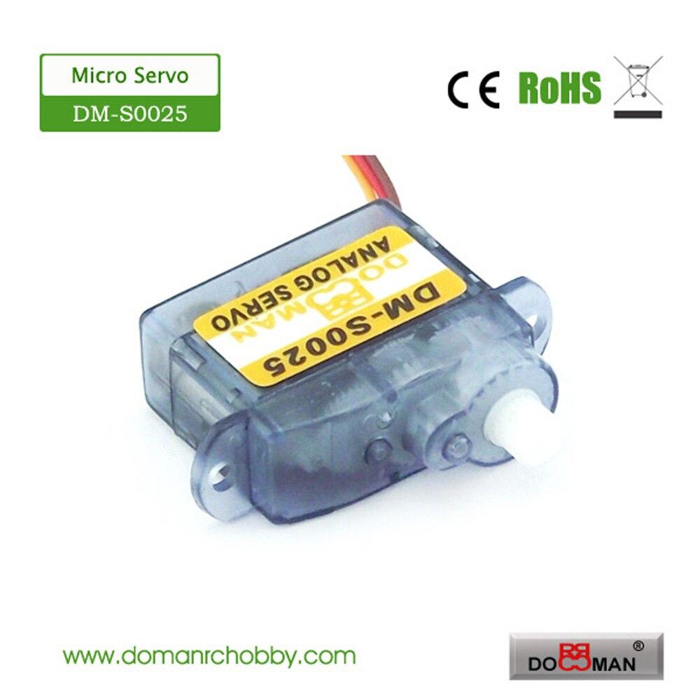 4 шт./лот DM-S0025 DOMAN RC 2,5g micro digital rc servo