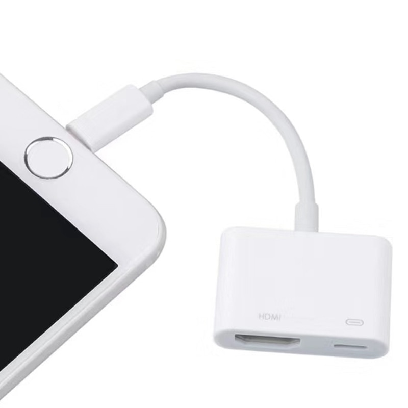 lightning to hdmi adapter for tv 1080p hd digital av adapter converter for iphone ipad phone to tv with the same screen cable Lightning To Converter Adapter For Iphone Ipad Apple Mobile Phone Smart Phone Cell Phones To Tv With The Same Screen Cable