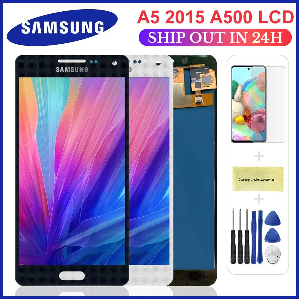 5.0 pouces LCD pour Samsung Galaxy A5 2015 A500 A500F A500M remplacement écran LCD écran tactile numériseur assemblée luminosité