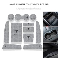suitable for tesla model 3 y central control door slot pad armrest box storage anti skid pad protection interior modification