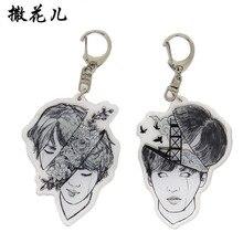 Custom acrylic keychain Demon slayer Kimetsu no Yaiba keychain Custom anime cartoon keyring bag Pendant  car pendent