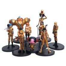 Anime 9 pièces une pièce film or sanji luffy chopper figurine zoro nico nami robin usopp brook franky Figurines
